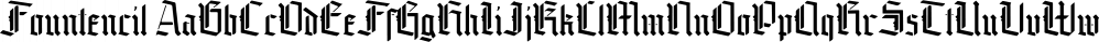 Fountencil font family by Letterhend Studio