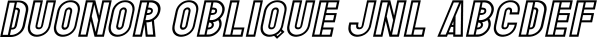 Duonor JNL font family by Jeff Levine Fonts