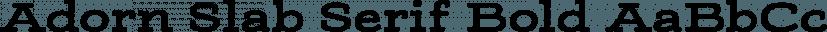 Adorn Slab Serif Bold font family by Laura Worthington