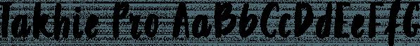 Takhie Pro font family by Konstantina Louka