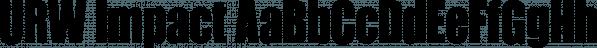 URW Impact font family by URW Type Foundry