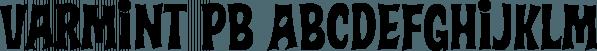 Varmint PB font family by Pink Broccoli