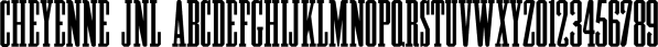 Cheyenne JNL font family by Jeff Levine Fonts