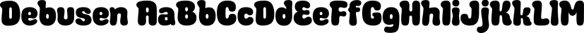 Debusen font family by Typodermic Fonts Inc.