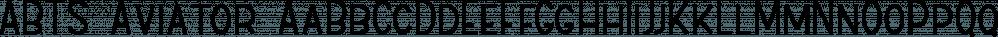 ABTS Aviator font family by Albatross