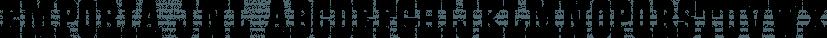 Emporia JNL font family by Jeff Levine Fonts