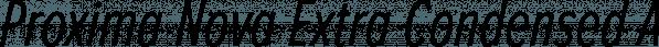 Proxima Nova Extra Condensed font family by Mark Simonson Studio