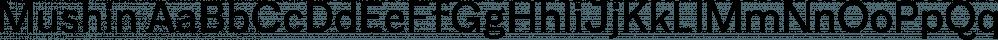 Mushin font family by Satori