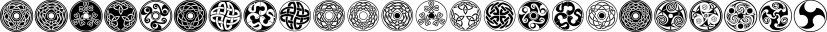Celtic-BA font family by Bannigan Artworks