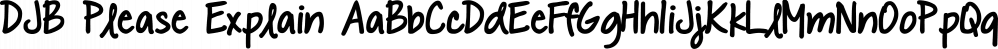 DJB Please Explain font family by Darcy Baldwin Fonts