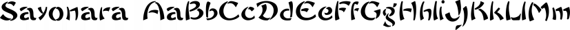 Sayonara font family by Intellecta Design