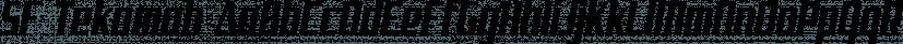 SF Tekamah font family by ShyFoundry
