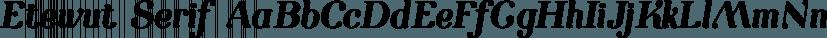 Etewut Serif font family by Etewut