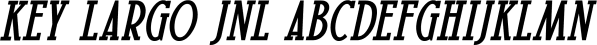 Key Largo JNL font family by Jeff Levine Fonts