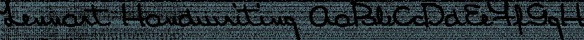 Lennart Handwriting font family by SoftMaker
