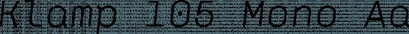 Klamp 105 Mono font family by Talbot Type