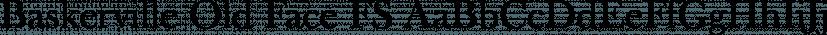Baskerville Old Face FS font family by FontSite Inc.