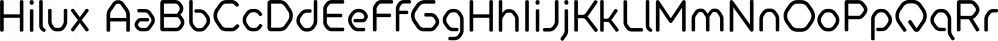 Hilux font family by HeadFirst
