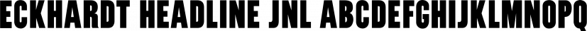 Eckhardt Headline JNL font family by Jeff Levine Fonts
