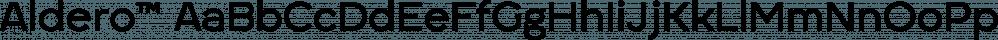Aldero™ font family by R9 Type+Design
