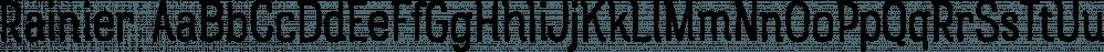 Rainier font family by Kimmy Design