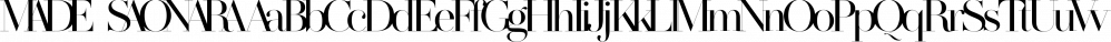 MADE SAONARA font family by MadeType