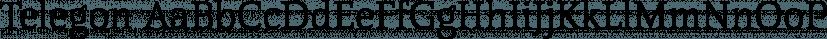 Telegon font family by FontSite Inc.