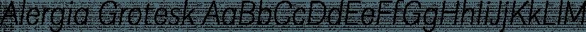 Alergia Grotesk font family by BORUTTA