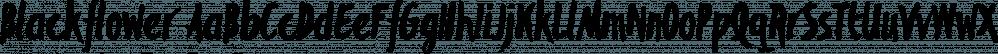 Blackflower font family by Typefaith Fonts