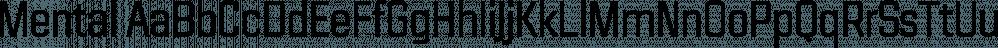 Mental font family by Horizon Type
