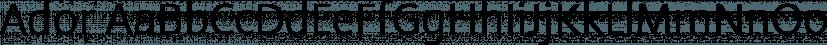 Ador font family by Fontador