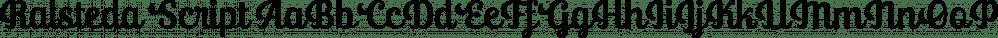 Ralsteda Script font family by Ajibatype