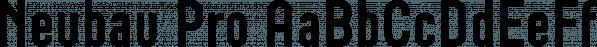 Neubau Pro font family by TipografiaRamis