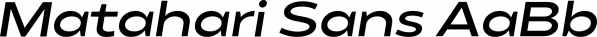Matahari Sans font family by Studio Sun