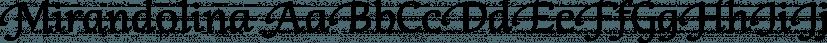 Mirandolina font family by ParaType