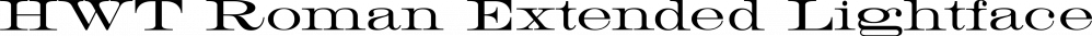 HWT Roman Extended Lightface font family by Hamilton Wood Type