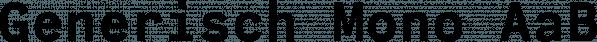 Generisch Mono font family by Akufadhl