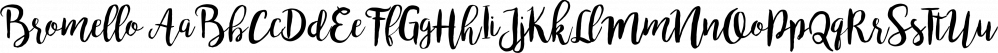 Bromello font family by Alit Design