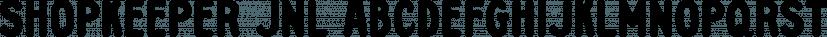 Shopkeeper JNL font family by Jeff Levine Fonts