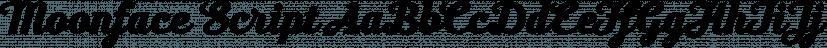Moonface Script font family by Typefaith Fonts