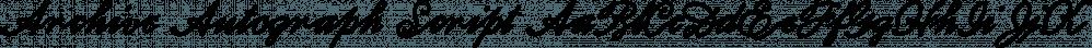 Archive Autograph Script font family by ArchiveType