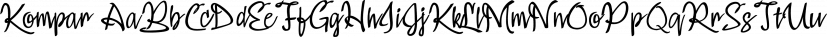 Kompar font family by Måns Grebäck