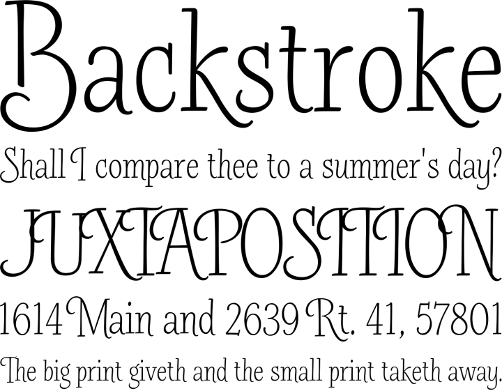Barmbrack Font Phrases