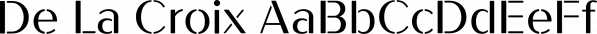 De La Croix font family by Wilton Foundry