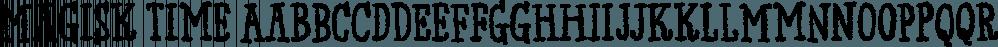 Magisk Time font family by Bogstav
