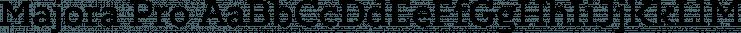 Majora Pro font family by Latinotype