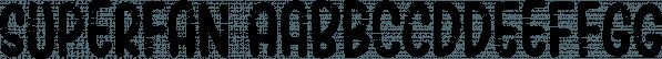 Superfan font family by Bogstav