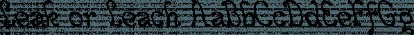 Leak or Leach font family by Ingrimayne Type