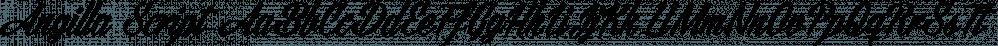 Angilla Script font family by Måns Grebäck