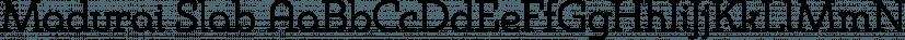 Madurai Slab font family by Insigne Design